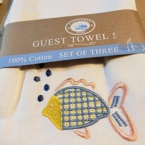 Nantucket Home Guest Towel Set NWT